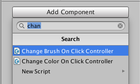 change brush on click controller